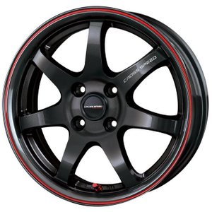 クロススピードCR7 グロスガンメタレッドライン 195/45R16 国産タイヤ ホイール4本セット タンク ルーミー トール マーチ 送料無料|rensshop