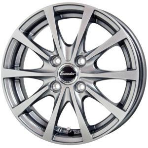 エクシーダE03 シルバー 165/55R15 国産 タイヤホイール4本セット ワゴンR ムーブ N-BOX キャンバス タント 送料無料 rensshop