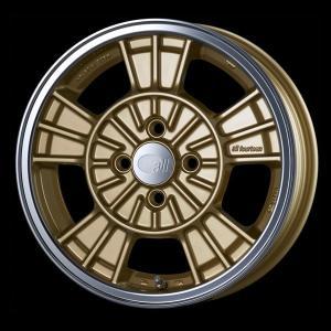 送料無料 ENKEI エンケイ all fourteen オールフォーティーン ゴールド 165/50R15 国産タイヤ ホイール4本セット パレット ルークス MH21ワゴンR等|rensshop