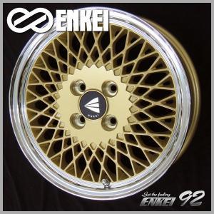 エンケイ ネオクラシック ENKEI 92 ゴールド 195/45R16 国産タイヤ ホイール4本セット タンク ルーミー トール マーチ 送料無料|rensshop