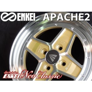 送料無料 ENKEI エンケイ APACHE2 アパッチ2 マシニングゴールド 165/55R15 ブリヂストン タイヤホイール 4本セット N-ONE アルト ミラ ムーブ タント|rensshop