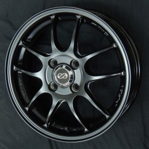 送料無料 エンケイ PF01 マットブラック 165/55R15 タイヤ ホイール4本セット タント ワゴンR ウェイク スペーシア エブリィ|rensshop