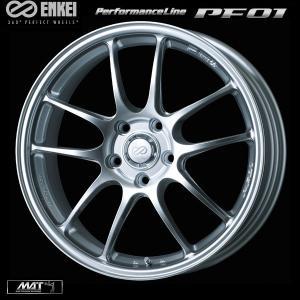 ENKEI エンケイ PF01 シルバー 軽量 7.5J +45 215/45R17 国産タイヤホイール 4本セット プリウス 86 レクサスCT 送料無料|rensshop
