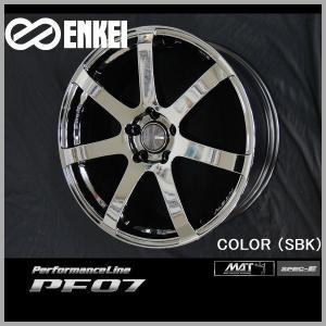 送料無料 ENKEI エンケイ パフォーマンスラインPF07 SBK メッキ 225/40R19 タイヤ ホイールセット プリウスα SAI RX-8 レヴォーグ|rensshop
