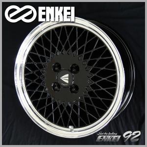 ENKEI エンケイ 92 メッシュ ブラック 165/45R16 軽自動車 タイヤホイール4本セット ミライース ワゴンR タント Nボックス 送料無料|rensshop