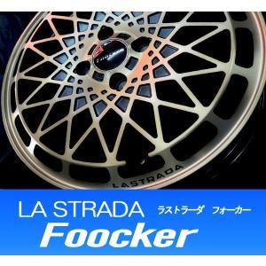 旧車 ネオクラ ラストラーダ フォーカー ブロンズクリア Foocker 165/55R15 国産タイヤ ホイール4本セット N-BOX アルト ワゴンR タント 送料無料|rensshop