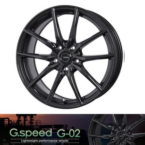 送料無料 G・SPEED G-02 ブラック 215/45R17 国産タイヤ ホイール4本セット PCD100 86 BRZ プリウス レクサスCT|rensshop