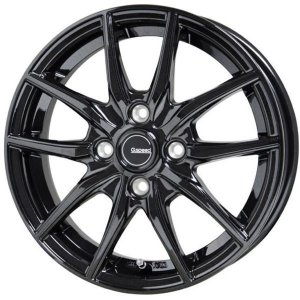 G.speed G-02 Gスピード G02 ブラック 165/55R15 国産 タイヤホイール 4本セット ムーブ タント N-BOX ワゴンR 送料無料 rensshop