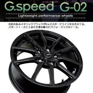 G・SPEED G-02 メタリックブラック 225/40R18 国産タイヤ インプレッサG4 86 BRZ 等 PCD100 5穴 送料無料|rensshop