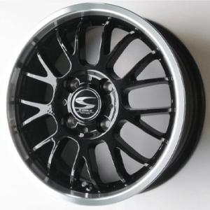 グランツ ブラック 165/55R14 国産 タイヤ ホイール 4本セット バモス アトレー 送料無料|rensshop