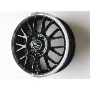 グランツ ブラック メッシュ 165/40R17 タイヤ ホイール 4本セット 軽自動車 17インチ ウェイク ワゴンR タント 送料無料|rensshop
