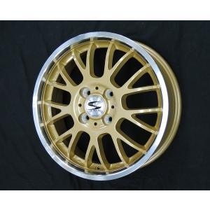 送料無料 グランツ ゴールド リムポリッシュ メッシュ 155/65R14 軽自動車 国産 低燃費タイヤ4本セット|rensshop