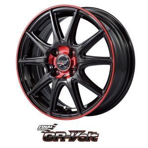 ファイナルスピードGR-VOLT レッドフレアブラック 195/45R16 国産タイヤ ホイール4本セット タンク ルーミー トール マーチ 送料無料|rensshop