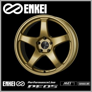86 BRZ レクサスCT エンケイPF05 ゴールド 8.0J +45 PCD100-5 225/40R18 ケンダ タイヤ ホイール4本セット 送料無料|rensshop