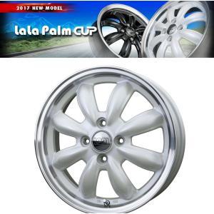ララパームCUP ホワイト 195/45R16 国産タイヤ ホイール4本セット タンク ルーミー トール マーチ 送料無料|rensshop