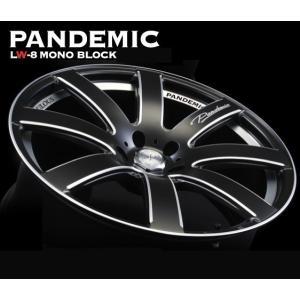 送料無料 ファブレス パンデミックLW-8 モノブロック マットブラック 200系ハイエース用 225/35R20 国産タイヤ ホイール4本セット rensshop