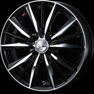 送料無料 WEDS レオニスVX BKMC 205/45R17 国産タイヤSET アクア 12キューブ等|rensshop