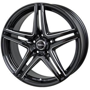 ラフィットLW04 8.0J +42 215/45R18 国産タイヤ ホイール 4本セット プリウスα SAI リーフ 送料無料|rensshop