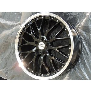 ナットサービス ロクサーニ マルチフォルケッタ ブラック 黒 8.0J 225/45R19 国産 タイヤ ホイール4本セット アテンザ エスティマ C-HR CHR 送料無料|rensshop