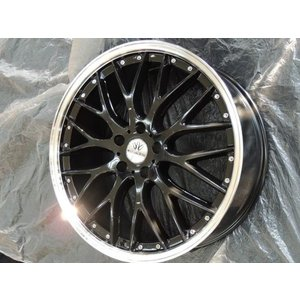 ナットサービス ロクサーニ マルチフォルケッタ ブラック 225/40R18 国産タイヤ 4本セット PCD114.3 セレナ アイシス 送料無料|rensshop