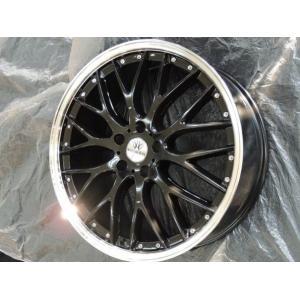 ナットサービス ロクサーニ マルチフォルケッタ ブラック 8.0J 225/45R18 国産タイヤ クラウン レクサスHS マークX ジオ ティアナ RX-8 送料無料|rensshop