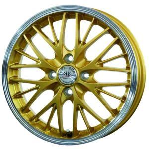 ロクサーニ スポーツ MW-8 ゴールド 165/50R15 国産タイヤ ホイール4本セット パレット ルークス MH21ワゴンR 送料無料|rensshop