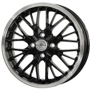 ロクサーニ スポーツ MW-8 ブラック 165/50R15 国産タイヤ ホイール4本セット パレット ルークス MH21ワゴンR 送料無料|rensshop