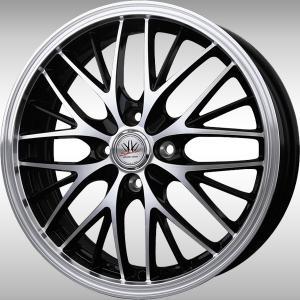 ナットサービス ロクサーニ スポーツ MW-8 ブラックポリッシュ 165/45R16 国産タイヤ ホイール4本セット ウェイク N-ONE ワゴンR 送料無料|rensshop