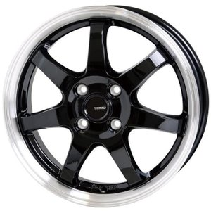 G・SPEED P−03 ジースピード  ブラック 195/45R16 国産タイヤ ホイール4本セット タンク ルーミー トール マーチ 送料無料|rensshop