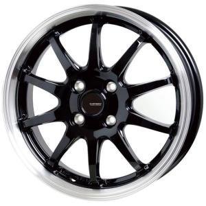 G・SPEED P−04 ジースピード  ブラック 195/45R16 国産タイヤ ホイール4本セット タンク ルーミー トール マーチ 送料無料|rensshop