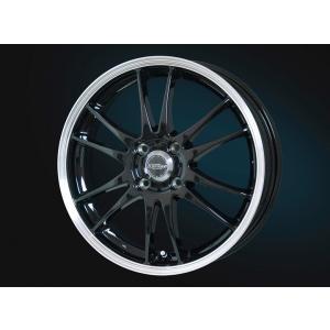 クロススピードプレミアム6ライト ブラック 155/65R14 国産 低燃費タイヤ ホイール4本セット ムーブ ワゴンR タント ウェイク 送料無料|rensshop