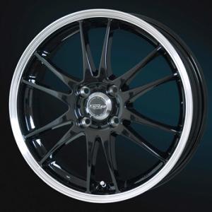 クロススピードプレミアム6ライト ブラック 165/55R15 国産タイヤ ホイール4本セット ミライース MH34ワゴンR タント 送料無料 rensshop