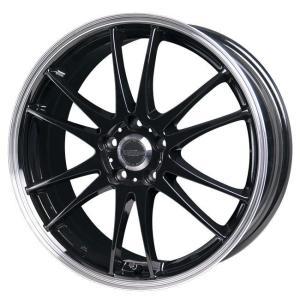 送料無料 クロススピード プレミアム6ライト ブラック 215/50R17 国産タイヤ ホイール4本セット PCD114.3 ノア エスクァイア プリウスα レヴォーグ|rensshop