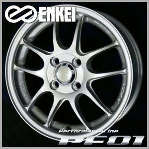 ENKEI エンケイ PF01 シルバー 195/50R16 国産タイヤ アクア ヴィッツ フィールダー キューブ スペイド インサイト グレイス 送料無料|rensshop