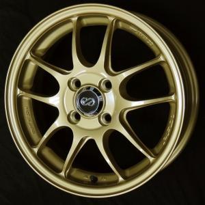 ENKEI エンケイ PF01 ゴールド 205/45R17 国産タイヤ アクア ヴィッツ スペイド フィールダー ノート キューブ 送料無料|rensshop