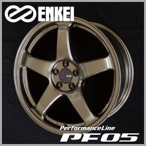 送料無料 86 BRZ レクサスCT プリウス PHV ENKEI エンケイ PF05 ブロンズ 限定カラー 8.0J +45 PCD100-5 225/40R18 タイヤ ホイール4本セット|rensshop