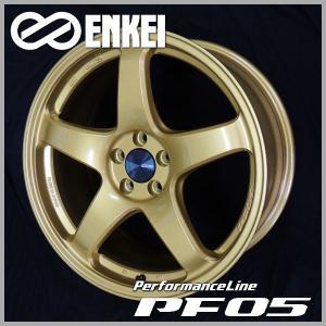 プリウス PHV 86 BRZ レクサスCT ウィッシュ 送料無料 ENKEI エンケイ PF05 ゴールド 215/45R17 国産タイヤ ホイール4本セット PCD100|rensshop