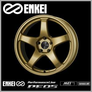 レヴォーグ 等に エンケイPF05 ゴールド 7.5J +48 5穴PCD114.3 225/45R18 ピレリ タイヤ ホイール4本セット 送料無料|rensshop