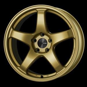 レヴォーグ 等に エンケイPF05 ゴールド 7.5J +48 5穴PCD114.3 225/45R18 国産タイヤ ホイール4本セット 送料無料|rensshop