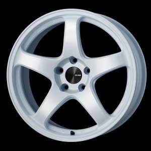 レヴォーグ 等に エンケイPF05 ホワイト 7.5J +48 5穴PCD114.3 225/45R18 タイヤ ホイール4本セット 送料無料|rensshop
