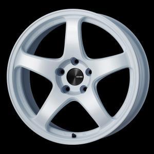 レヴォーグ 等に エンケイPF05 ホワイト 7.5J +48 5穴PCD114.3 225/45R18 国産タイヤ ホイール4本セット 送料無料|rensshop