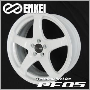 プリウス PHV 86 BRZ レクサスCT ウィッシュ 送料無料 ENKEI エンケイ PF05 ホワイト 215/45R17 国産タイヤ ホイール4本セット PCD100|rensshop
