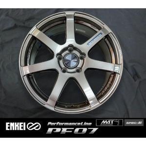 ENKEI エンケイ PF07 ダークシルバー 225/45R18 国産タイヤホイール4本セット 7.5J 5穴PCD114.3 レヴォーグ オデッセイ 送料無料|rensshop