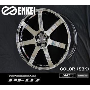 送料無料 86 BRZ プリウス PHV ENKEI エンケイ パフォーマンスライン PF07 SBK メッキ 8.0J +45 225/40R18 国産ホイール タイヤ4本セット|rensshop