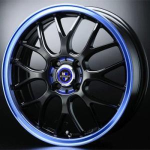 エクスプラウドRBM ブルー 青 205/40R17 国産タイヤ ホイール4本セット マーチ フィット パッソ デミオ キューブ 送料無料|rensshop