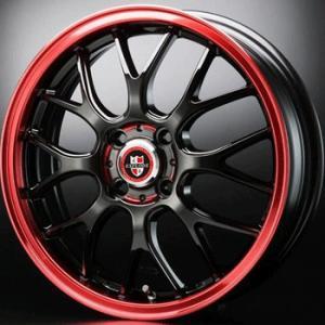エクスプラウドRBM レッド 赤 205/40R17 国産タイヤ ホイール4本セット マーチ フィット パッソ デミオ キューブ 送料無料|rensshop