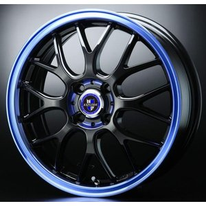 エクスプラウドRBM ブルー 155/65R14 国産 タイヤ ホイール4本セット  タント ウェイク 送料無料|rensshop
