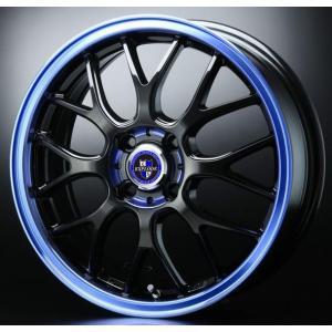 アクア フィルダー ヴィッツ クロスビー イグニス 送料無料  エクスプラウドRBM ブラックブルー 青 175/60R16 国産 タイヤ ホイール4本セット|rensshop