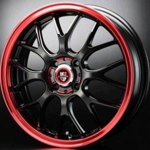エクスプラウドRBM レッド 155/65R14 国産 タイヤ ホイール4本セット  タント ウェイク 送料無料|rensshop