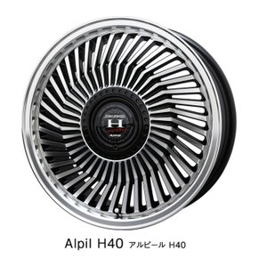 Alpil アルピール H40 (ヘッド40)165/50R16 国産タイヤ アルミホイール4本セット ハスラー フレアクロスオーバー キャスト コペン 送料無料|rensshop
